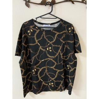 ザラ(ZARA)のZARA チェーン柄 Tシャツ(Tシャツ(半袖/袖なし))