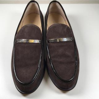グッチ(Gucci)のGUCCI グッチ スエード ローファー ブラウン (93017061)(ローファー/革靴)