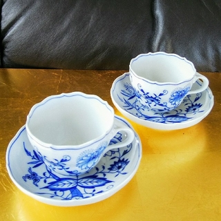 マイセン(MEISSEN)のマイセン MEISSEN ブルーオニオン カップ&ソーサー ペア used(食器)