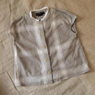 コドモビームス(こどもビームス)のHAKKA KIDS ハッカキッズ 織り柄が可愛いブラウス 130 日本製(ブラウス)