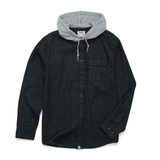 オルタモント(ALTAMONT)のオルタモント フード付きデニムシャツ black(シャツ)