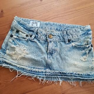 SLY - スライ、SLYデニムスカート、ミニスカート、ダメージジーンズ