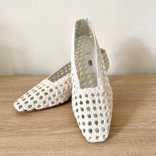 IENA - 革靴 サンダル 大きいサイズ 白 IENA Miista 38 24.5cm