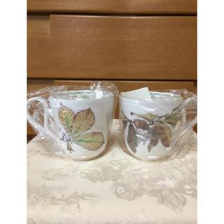 ジブリ(ジブリ)のノリタケ トトロマグカップ2つ(グラス/カップ)