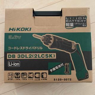 ヒタチ(日立)のHiKOKI 日立工機 3.6V コードレスドライバードリル DB3DL2(工具)