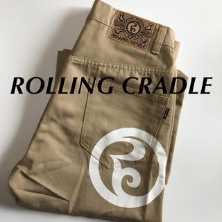 ローリングクレイドル(ROLLING CRADLE)のROLLING CRADLE ワイド チノパン ベージュ ローリングクレイドル(チノパン)