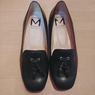 マミアン(MAMIAN)のタッセルローファー パンプス 黒 23.5cm マミアン ZOZOTOWN(ローファー/革靴)