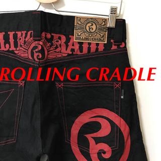 ローリングクレイドル(ROLLING CRADLE)のROLLING CRADLE ブラック デニム パンツ レア ロリクレ(デニム/ジーンズ)