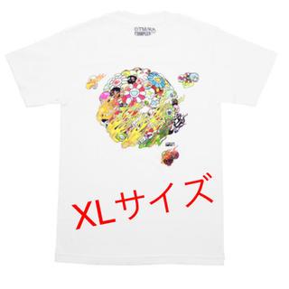 FLAMING SKULL & FLOWER TEE WHITE XL (Tシャツ/カットソー(半袖/袖なし))