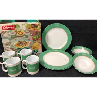 Coleman  コールマン 強化ガラステーブルセット 食器 廃盤