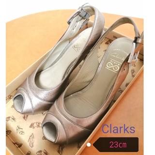 クラークス(Clarks)のClarks  メタリックレザー パンプス(ハイヒール/パンプス)