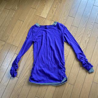ベルメゾン(ベルメゾン)の紫カットソー(カットソー(長袖/七分))