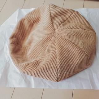 イーハイフンワールドギャラリー(E hyphen world gallery)のベージュ ベレー帽 E hyphen world gallery(ハンチング/ベレー帽)