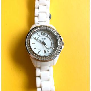 フォッシル(FOSSIL)のフォッシル FOSSIL レディス 腕時計 ホワイト(腕時計)