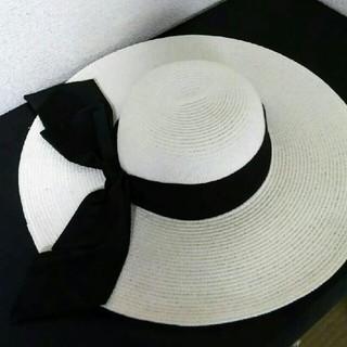 エミリアウィズ(EmiriaWiz)のエミリアウィズ リボン付ストローハット(麦わら帽子/ストローハット)