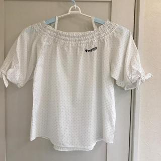 レピピアルマリオ(repipi armario)のレピピ ドットシャツ Lサイズ(ブラウス)