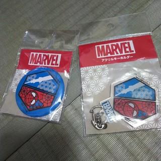 マーベル(MARVEL)のMARVEL スパイダーマン&東京スカイツリーキーホルダー&缶バッチセット(バッジ/ピンバッジ)