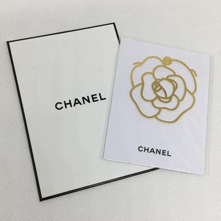 シャネル(CHANEL)のCHANEL/シャネル ブックマーク₊✼̥୭*カメリア型(しおり/ステッカー)
