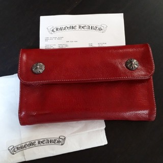 クロムハーツ(Chrome Hearts)のCHROME HEARTS WAVE WALLET 財布 RED(長財布)
