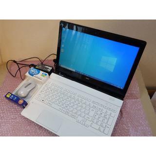 """エヌイーシー(NEC)のNEC 白 i3 15.3"""" SSD 8GB office 2015年夏モデル(ノートPC)"""