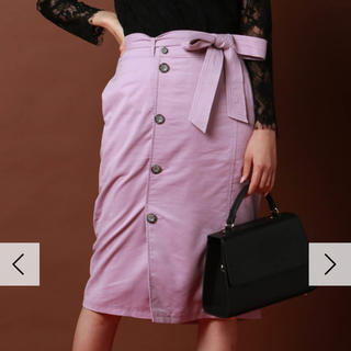 ビッキー(VICKY)の【VICKY】スエードタイトスカート サイズ0(ひざ丈スカート)