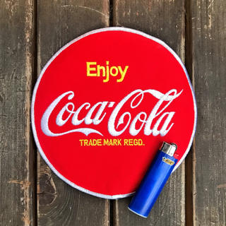 コカコーラ(コカ・コーラ)の【レア珍‼️】送料無料‼️ビンテージ Coke 大サイズワッペン デッド品(各種パーツ)