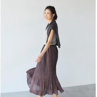 Elura 【ヒルナンデス放映アイテム】シャイニープリーツスカート(ロングスカート)