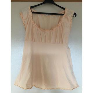 エフデ(ef-de)のノースリーブTシャツ ペールオレンジ(Tシャツ(半袖/袖なし))