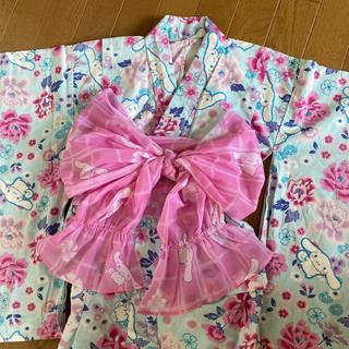 サンリオ - サンリオ 子ども用 浴衣 帯付き シナモン 130cm