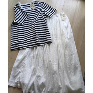 ムジルシリョウヒン(MUJI (無印良品))の無印良品  マキシスカート・Tシャツ セット(セット/コーデ)