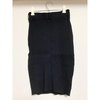 ジェイダ(GYDA)の美品 リブニットスカート(ひざ丈スカート)