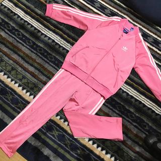 アディダス(adidas)のアディダス  ジャージ上下セット ピンク 女の子 120(その他)