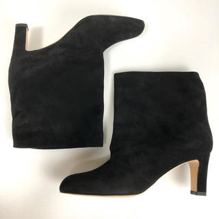 ドゥーズィエムクラス(DEUXIEME CLASSE)の新品 35 ネブローニ NEBULONIE ショートブーツ 黒 スエード(ブーツ)