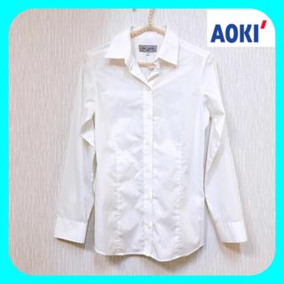 """アオキ(AOKI)のAOKI  """"LES MUES Femme""""  ♥︎ 白シャツ ブラウス 7号(シャツ/ブラウス(長袖/七分))"""