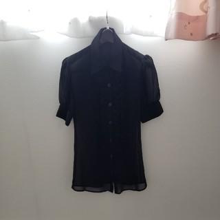 ロディスポット(LODISPOTTO)のロディスポット 透け感ブラウス 黒(シャツ/ブラウス(半袖/袖なし))