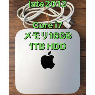 マック(Mac (Apple))のMac mini (late2012) ★Corei7 1TB メモリ16GB(デスクトップ型PC)