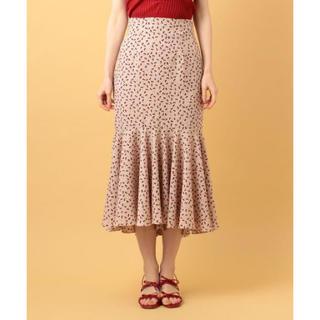 デイシー(deicy)のDEICY チェリーヘムフレアスカート完売ベージュ0サイズ(ロングスカート)