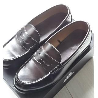 HARUTA - melangeメランジェ コインローファー革靴EEE 23.5 3E ハルタ