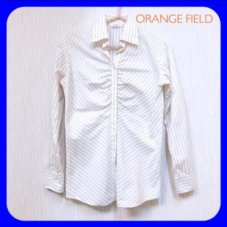 AOKI - ORANGE FIELD ♥︎ ストライプシャツ ブラウス レディース 9号