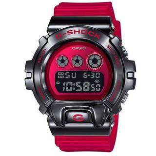 ジーショック(G-SHOCK)の【正規品】CASIO G-SHOCK 元祖3つ目モデル メタルベゼル レッド(腕時計(デジタル))