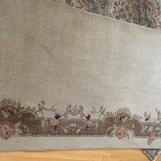 アクタス(ACTUS)のヴィンテージラグ 花柄 ボタニカルデザイン 絨毯(ラグ)