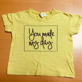 サンカンシオン(3can4on)の3can4on 半袖Tシャツ マスタード色 100cm (男女兼用)(Tシャツ/カットソー)