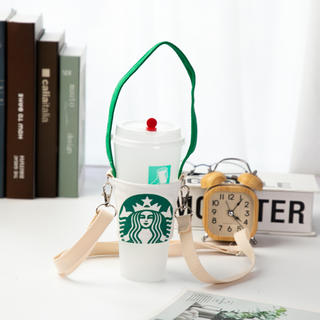 Starbucks Coffee - 【スターバックス】海外限定 ドリンクホルダー 2way ホワイト