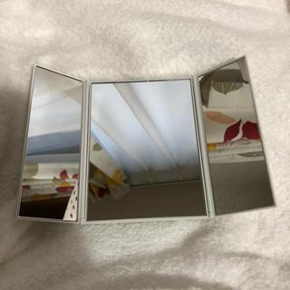 ムジルシリョウヒン(MUJI (無印良品))の無印良品 三面鏡 置き鏡 ドレッサー 折りたたみ三面鏡(卓上ミラー)