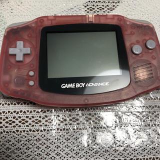 ゲームボーイアドバンス(ゲームボーイアドバンス)のゲームボーイカラー アドバンス本体 ピンク(携帯用ゲーム機本体)