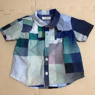 センスオブワンダー(sense of wonder)の襟つきシャツ青(Tシャツ/カットソー)