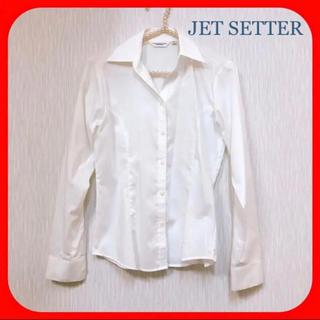 アオキ(AOKI)のJET SETTER ♥︎ 白シャツ ブラウス レディース Sサイズ(シャツ/ブラウス(長袖/七分))