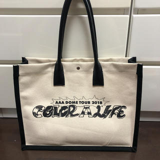 トリプルエー(AAA)のAAA ドームツアー col colour A life トートバック(ミュージシャン)