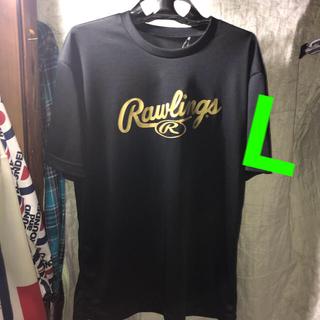 ローリングス(Rawlings)の夏や野球スポーツ好きな方へ。映えるrawlings®️王道GOLDデカロゴ黒T(Tシャツ/カットソー(半袖/袖なし))
