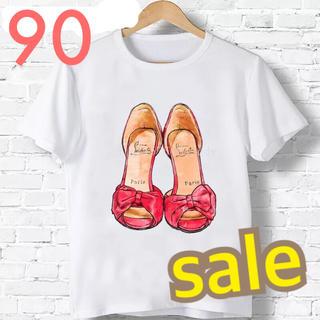 新品 ♡ 人気  大人可愛い サンダル Tシャツ 90(Tシャツ/カットソー)